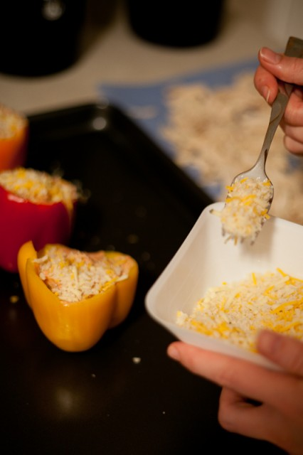 Chicken and Cream Cheese Stuffed Peppers
