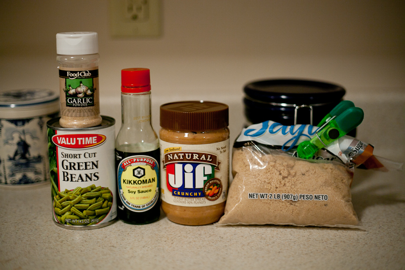 Ingredients for Shortcut Asian Green Beans