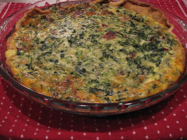 Cheesy Spinach Quiche Recipe with no heavy cream