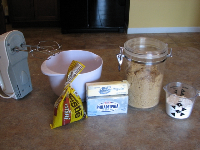 Chocolate Chip Dip Ingredients