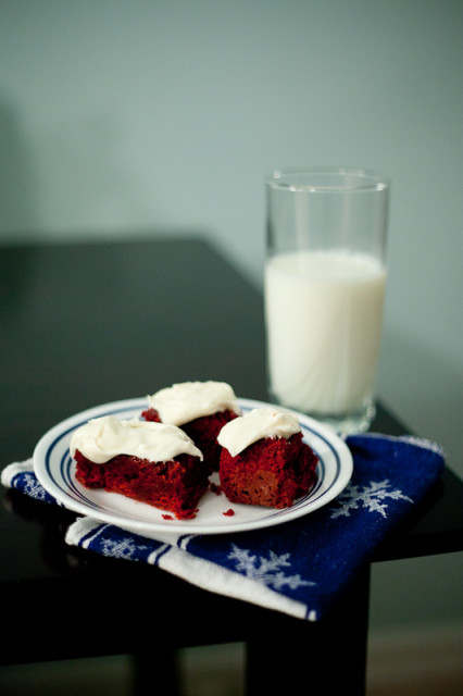 Red Velvet Brownies with Cream Cheese Frosting Recipe