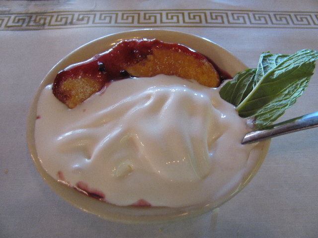 Blackberry cobbler at the Dillard House in Georgia