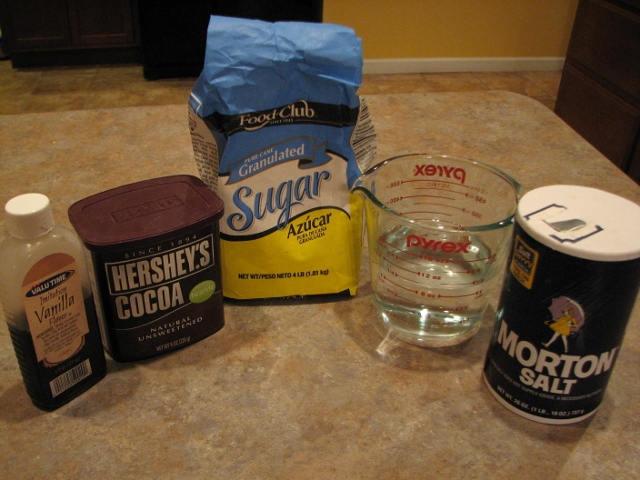 chocolate syrup ingredients