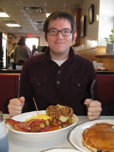 Mr. Herb at Becky's Diner in Portland, Maine