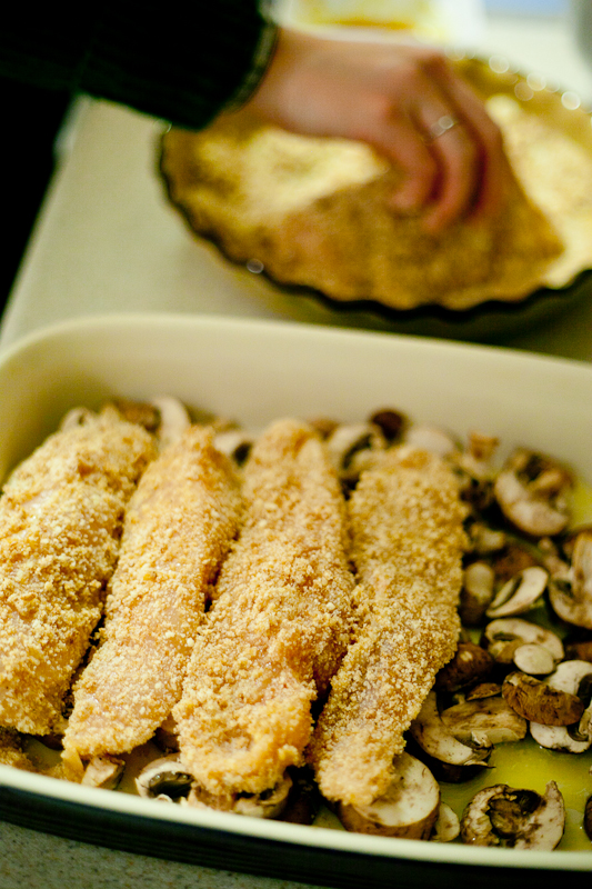 Parmesan Baked Chicken with Mushrooms Recipe
