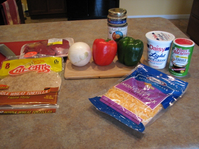 Steak Fajitas Ingredients