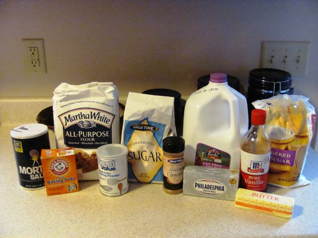 Ingredients for Quick Cinnamon Rolls Recipe
