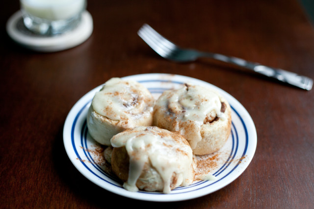 Quick Cinnamon Rolls with Cream Cheese Frosting Recipe