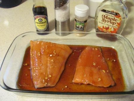 Maple Glazed Baked Salmon Recipe