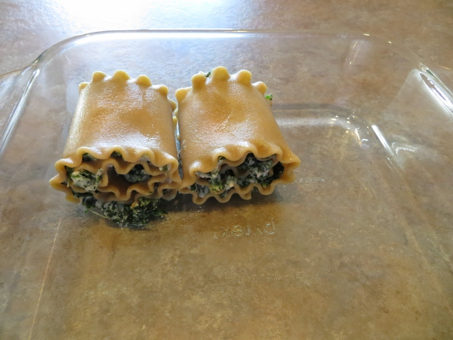 spinach ricotta lasagna roll-ups recipe