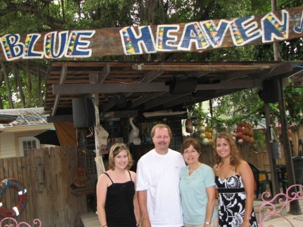 Herb Family at Blue Heaven in Key West