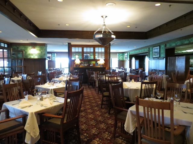 open dining rooms with views of the Blue Ridge Mountains  Grove Park Inn. Herb on Herbs